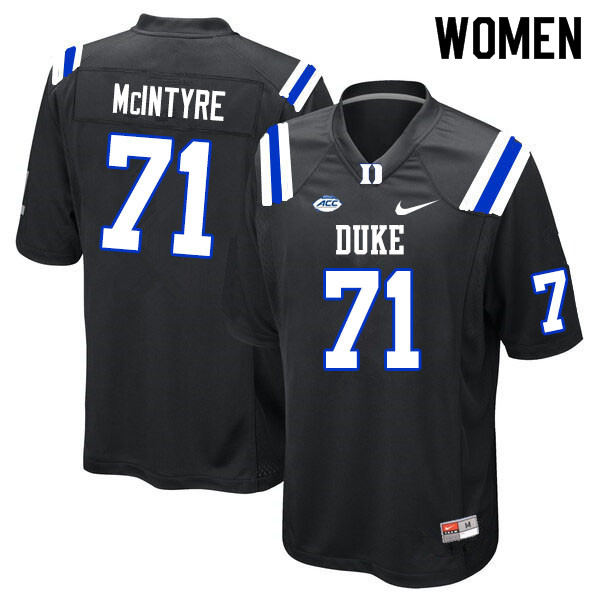 Women #71 Maurice McIntyre Duke Blue Devils College Football Jerseys Sale-Black
