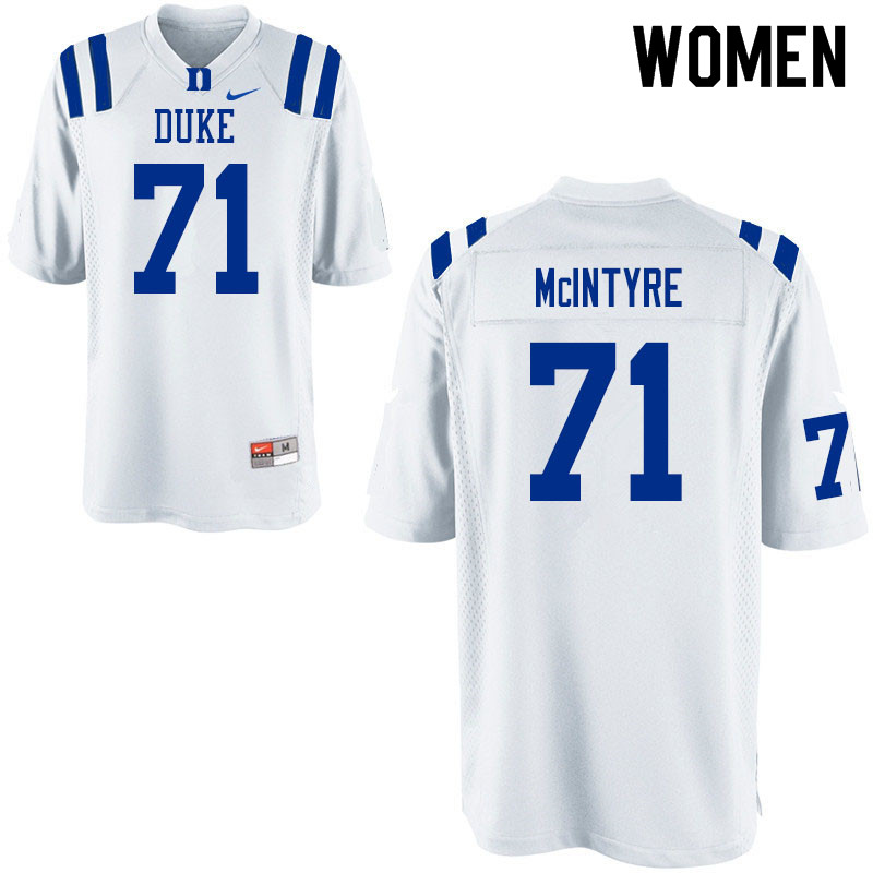 Women #71 Maurice McIntyre Duke Blue Devils College Football Jerseys Sale-White