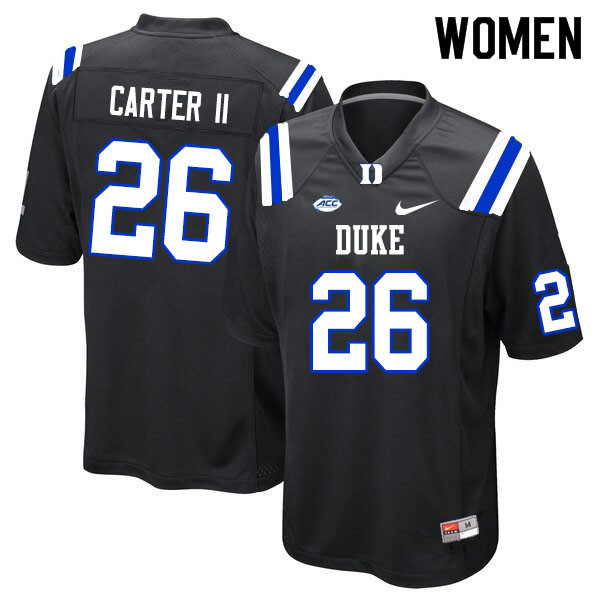 Women #26 Michael Carter II Duke Blue Devils College Football Jerseys Sale-Black