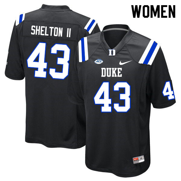 Women #43 Rocky Shelton II Duke Blue Devils College Football Jerseys Sale-Black