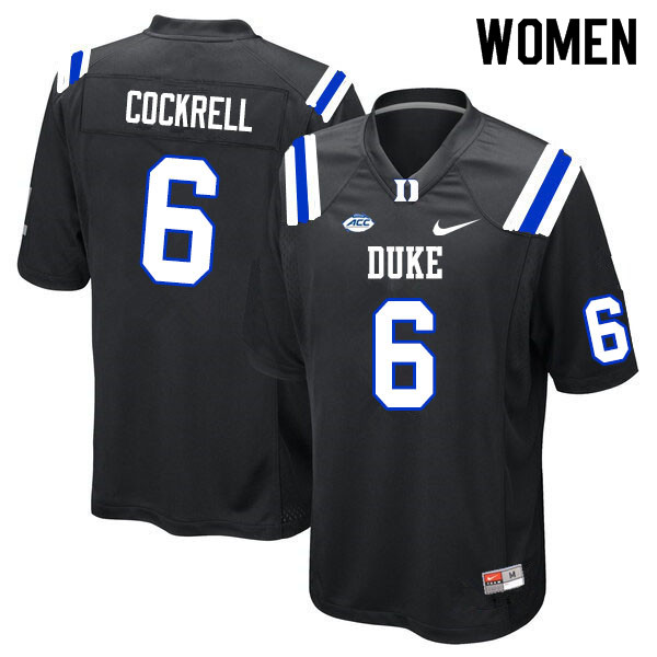 Women #6 Ross Cockrell Duke Blue Devils College Football Jerseys Sale-Black