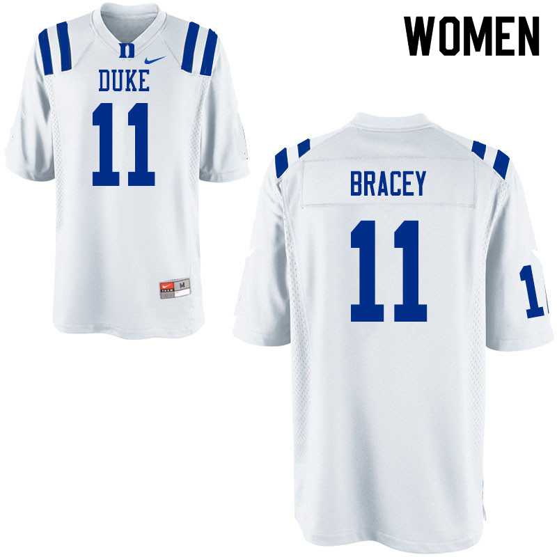 Women #11 Scott Bracey Duke Blue Devils College Football Jerseys Sale-White