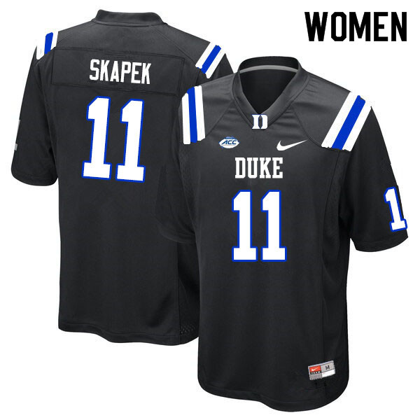 Women #11 Tim Skapek Duke Blue Devils College Football Jerseys Sale-Black