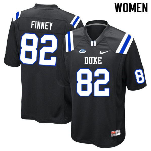 Women #82 Cole Finney Duke Blue Devils College Football Jerseys Sale-Black