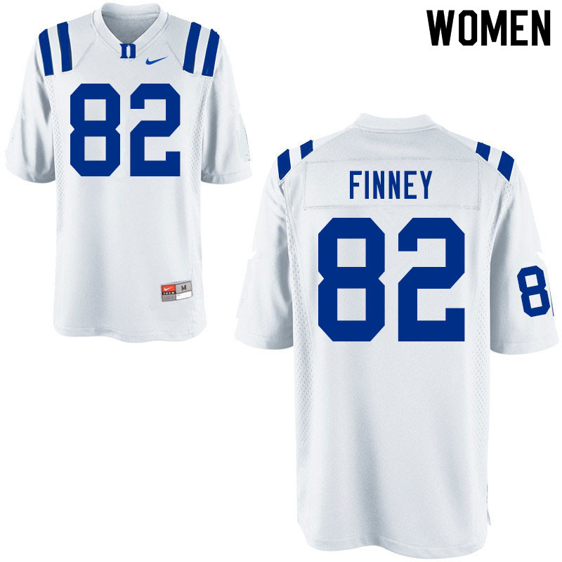 Women #82 Cole Finney Duke Blue Devils College Football Jerseys Sale-White
