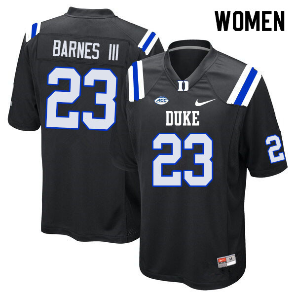 Women #23 Edwin Barnes III Duke Blue Devils College Football Jerseys Sale-Black