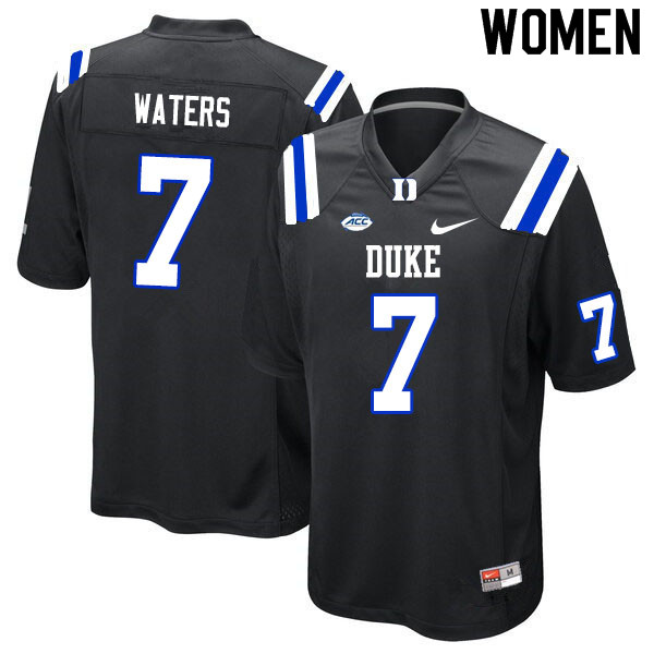 Women #7 Jordan Waters Duke Blue Devils College Football Jerseys Sale-Black
