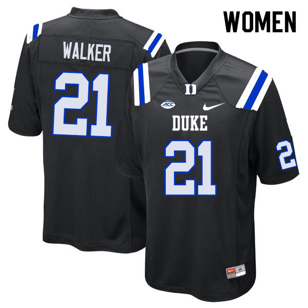 Women #21 Khilan Walker Duke Blue Devils College Football Jerseys Sale-Black