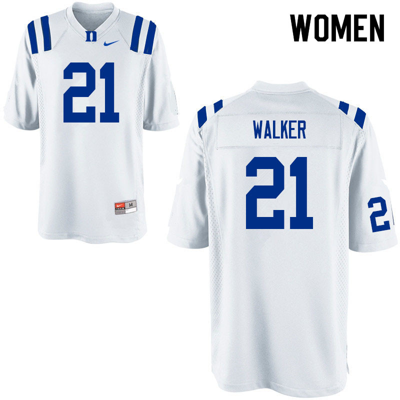 Women #21 Khilan Walker Duke Blue Devils College Football Jerseys Sale-White