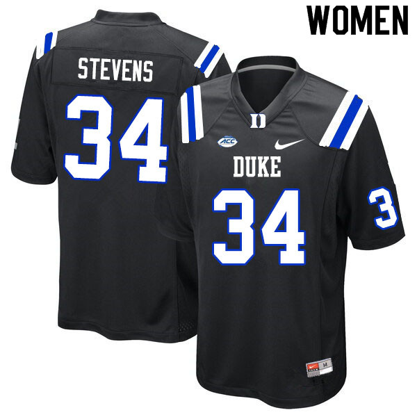 Women #34 Sayyid Stevens Duke Blue Devils College Football Jerseys Sale-Black