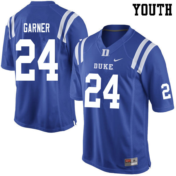Youth #24 Jarett Garner Duke Blue Devils College Football Jerseys Sale-Blue