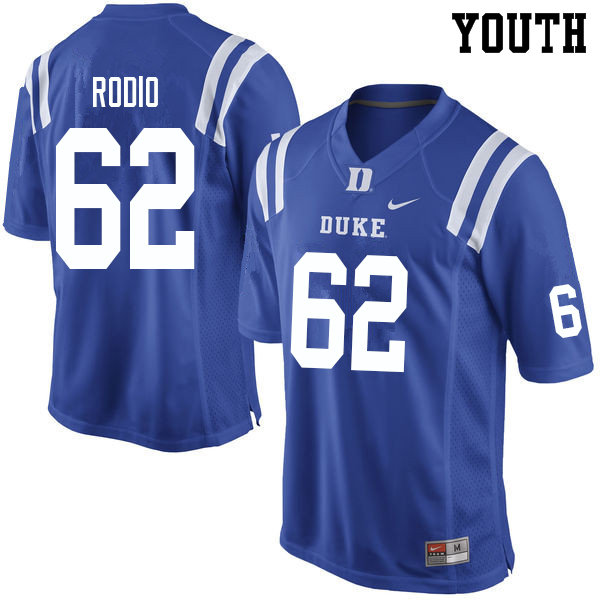 Youth #62 Lee Rodio Duke Blue Devils College Football Jerseys Sale-Blue