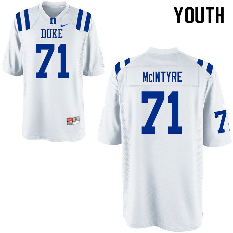 Youth #71 Maurice McIntyre Duke Blue Devils College Football Jerseys Sale-White