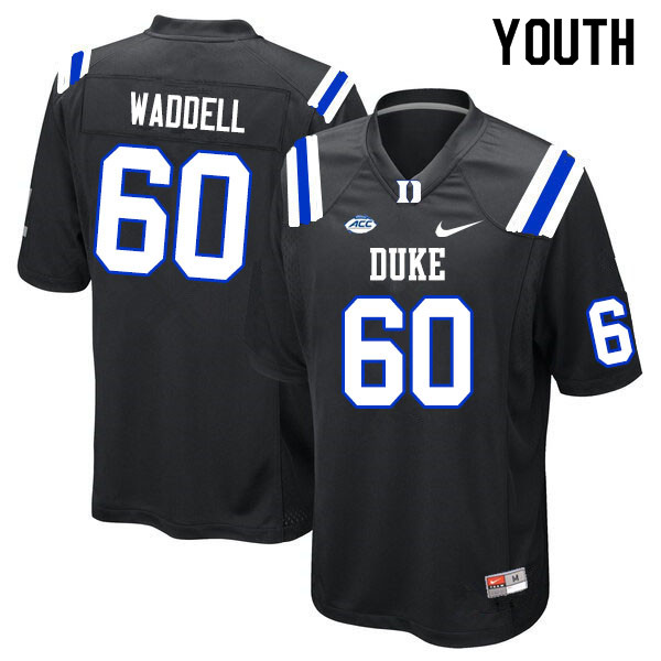 Youth #60 Noah Waddell Duke Blue Devils College Football Jerseys Sale-Black