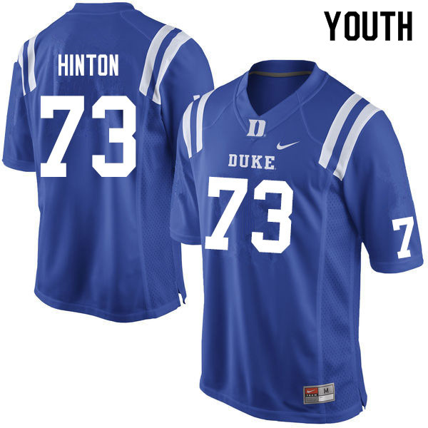 Youth #73 Anthony Hinton Duke Blue Devils College Football Jerseys Sale-Blue