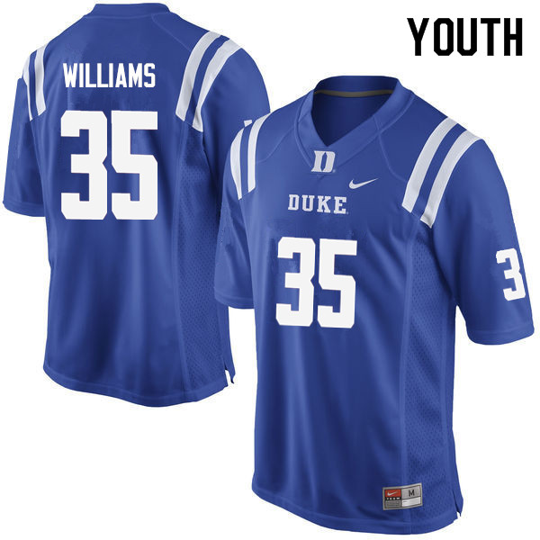 Youth #35 Antone Williams Duke Blue Devils College Football Jerseys Sale-Blue