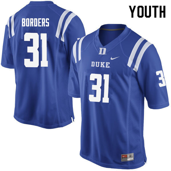 Youth #31 Breon Borders Duke Blue Devils College Football Jerseys Sale-Blue