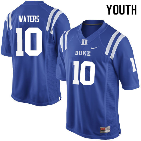 Youth #10 Marquis Waters Duke Blue Devils College Football Jerseys Sale-Blue