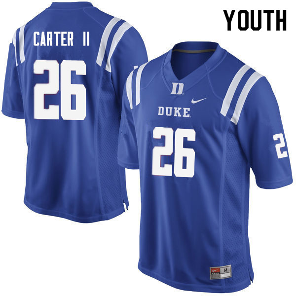 Youth #26 Michael Carter II Duke Blue Devils College Football Jerseys Sale-Blue