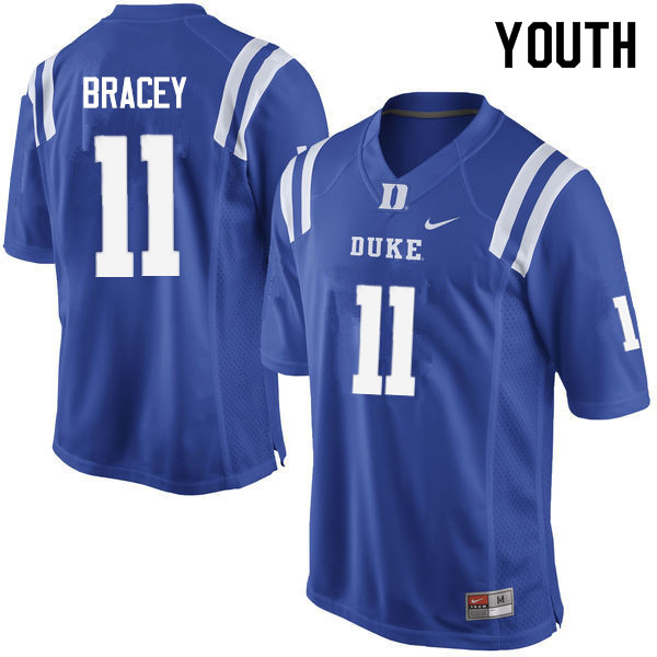 Youth #11 Scott Bracey Duke Blue Devils College Football Jerseys Sale-Blue
