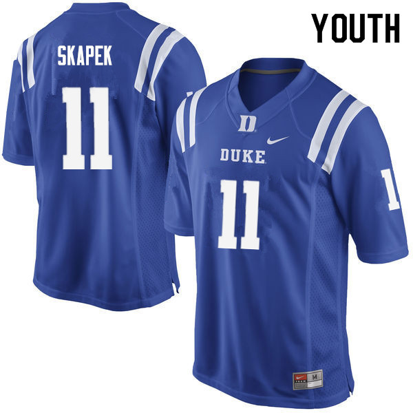Youth #11 Tim Skapek Duke Blue Devils College Football Jerseys Sale-Blue