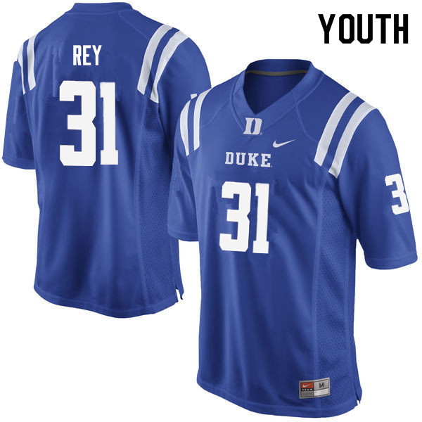 Youth #31 Vincent Rey Duke Blue Devils College Football Jerseys Sale-Blue